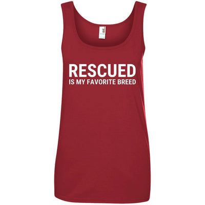 Rescued Is My Favorite Breed Cotton Tank