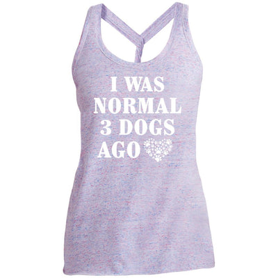 I Was Normal 3 Dogs Ago Twist Back Tank