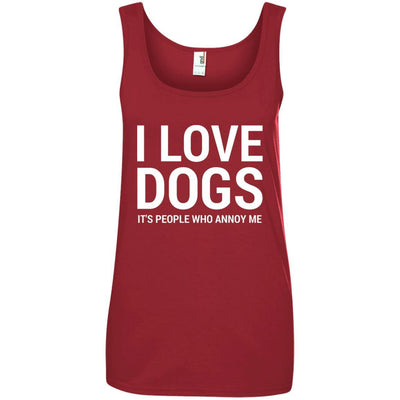 I Love Dogs, It's People Who Annoy Me Cotton Tank