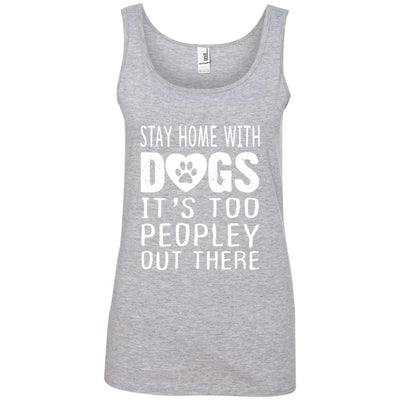 Stay Home With Dogs Cotton Tank
