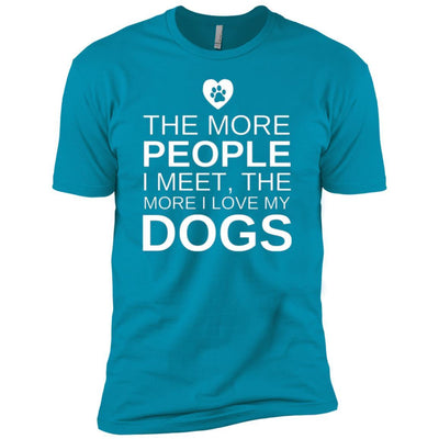 The More People I Meet, The More I Love My Dog Premium Tee