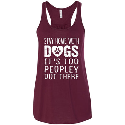 Stay Home With Dogs Flowy Tank