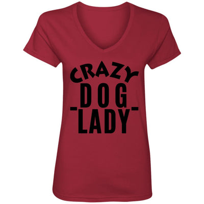 Crazy Dog Lady V-Neck Tee