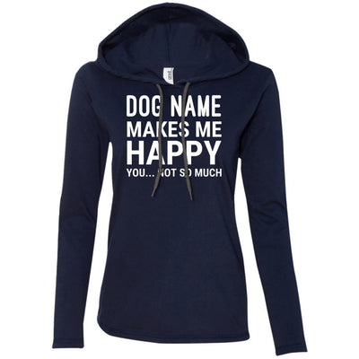 Personalized (Dog Name) My Dog Makes Me Happy T-Shirt Hoodie