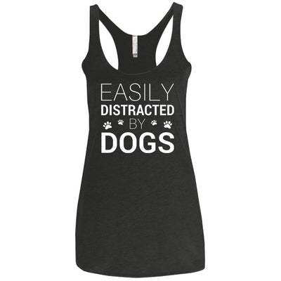 Easily Distracted By Dogs Triblend Tank