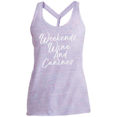 Weekends Wine And Canines Twist Back Tank