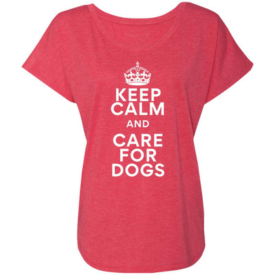 Keep Calm And Care For Dogs Slouchy Tee