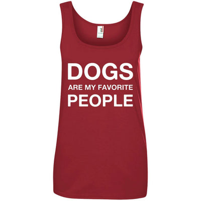 Dogs Are My Favorite People Cotton Tank