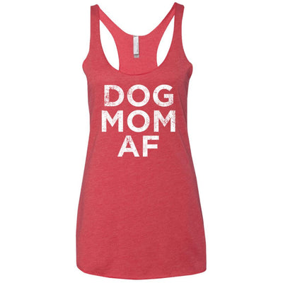 Dog Mom AF Triblend Tank