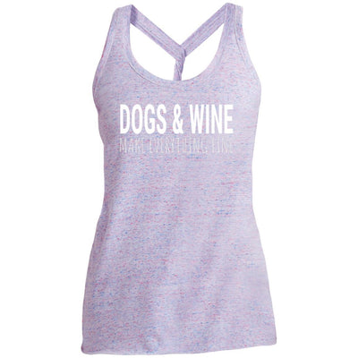 Dogs & Wine Make Everything Fine Twist Back Tank