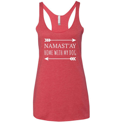 Namastay Home With My Dog Triblend Tank