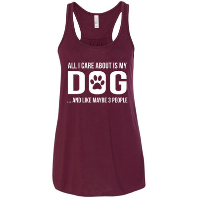 All I Care About Is My Dog Flowy Tank