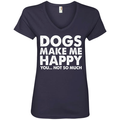 DOGS MAKE ME HAPPY V-Neck Tee