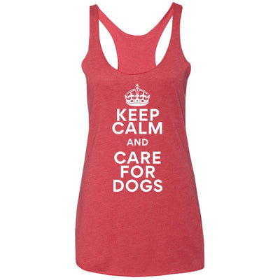 Keep Calm And Care For Dogs Triblend Tank