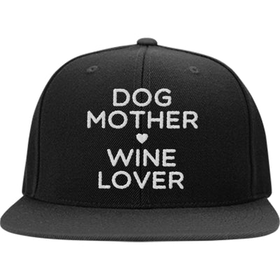 Dog Mother, Wine Lover Snapback Hat