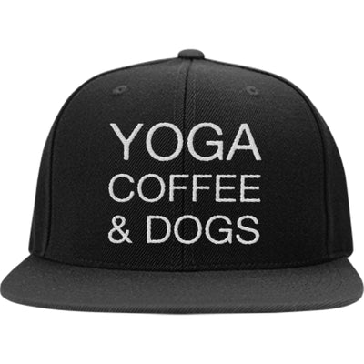 Yoga Coffee & Dogs Snapback Hat