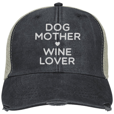 Dog Mother, Wine Lover Trucker Cap