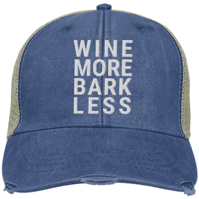Wine More Bark Less Trucker Cap