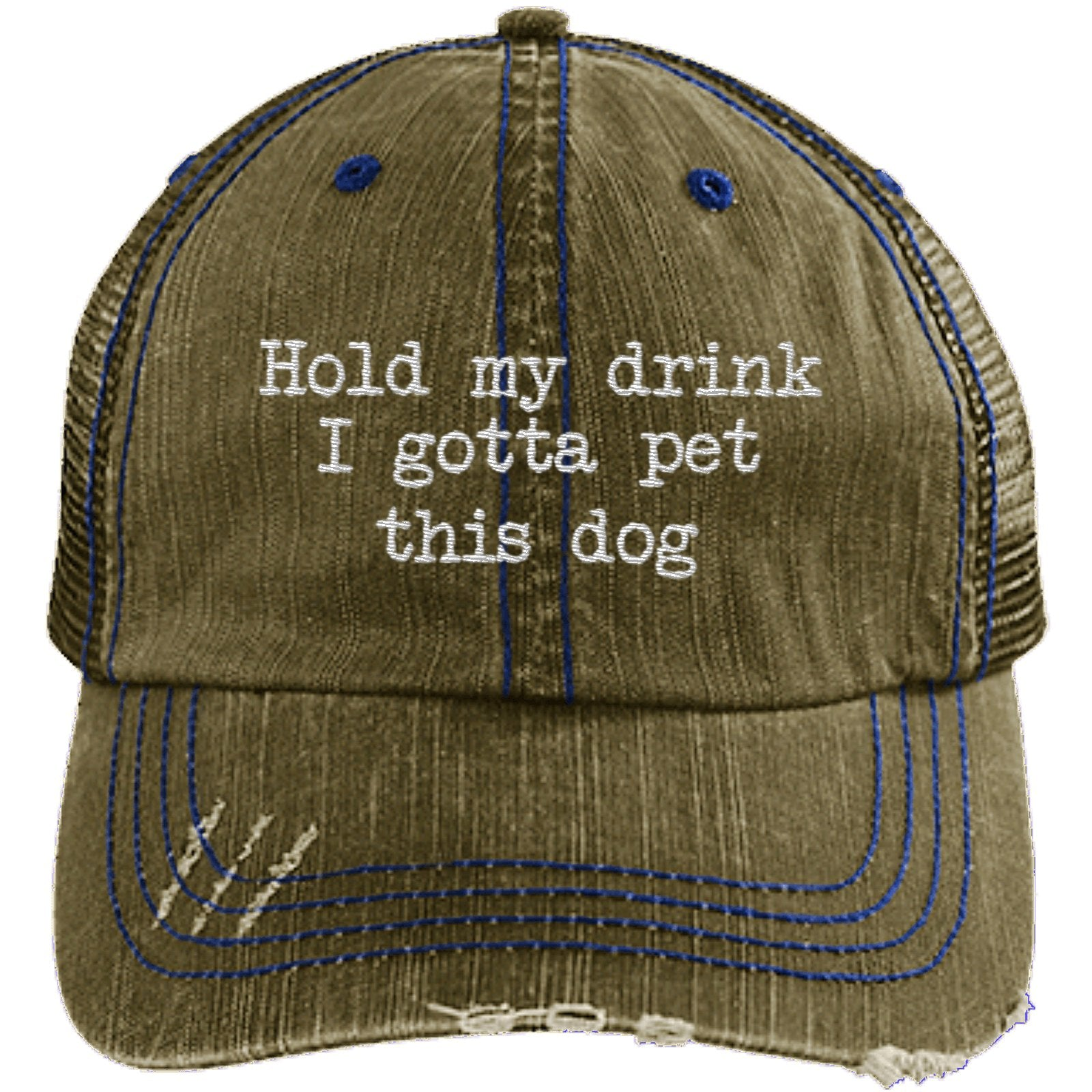 Girl Sweatshirts with Pocket Hold My Drink I Gotta Pet This Dog Polyester Hoodie