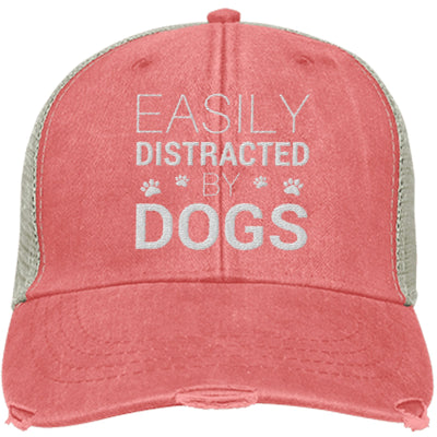Easily Distracted By Dogs Trucker Cap