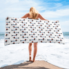 French Weiner Dog Beach Towel
