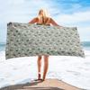 Playful Pugs Beach Towel