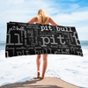 Pit Bull Lives Matter Beach Towel