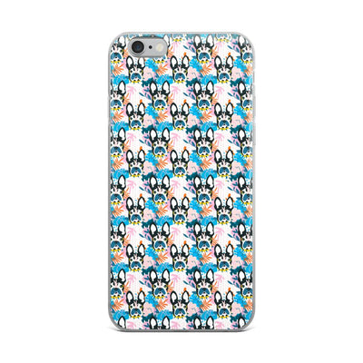 Tropical Boston Terrier iPhone Case