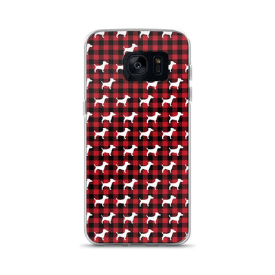 Dogs On Plaid Samsung Case