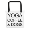 Yoga Coffee & Dogs Tote bag
