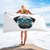 Hollywood Pug Beach Towel
