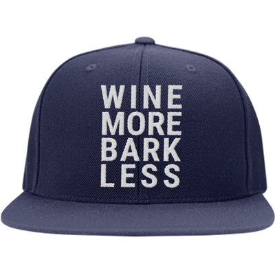 Wine More Bark Less Snapback Hat