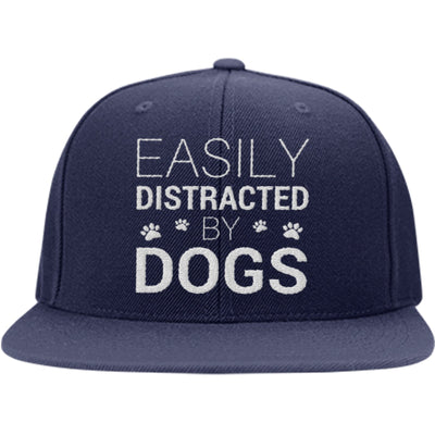 Easily Distracted By Dogs Snapback Hat