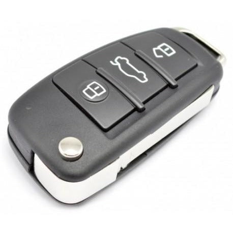 Audi A4, RS4 3 button remote key (2005-09) 8EO837220Q, 8EO837220K, 8EO837220D