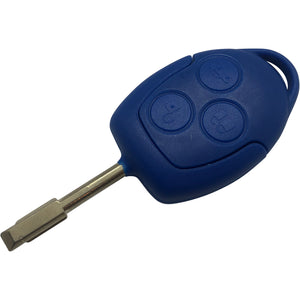 Ford Transit Blue 3 Button Central Locking Remote Key Case With Blade Mk7 2006