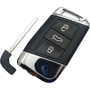 Volkswagen VW Passat 3 Button MQB Key (Chrome) 3G0 959 752