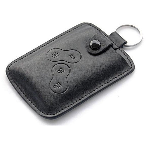 Renault 4 button Key Card Leather Wallet