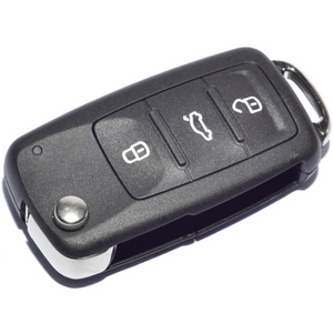 VW T5 GOLF POLO CADDY 3 Button Remote Key Alarm Fob 5KO837202AD (Genuine )