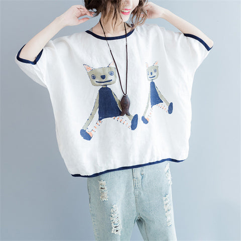 Cat Puppet - women's blouse