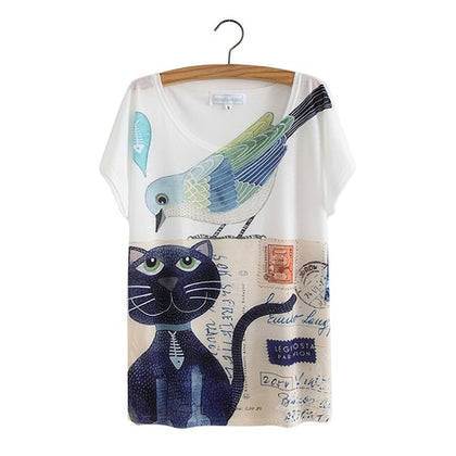 CAT ART - women's t-shirt