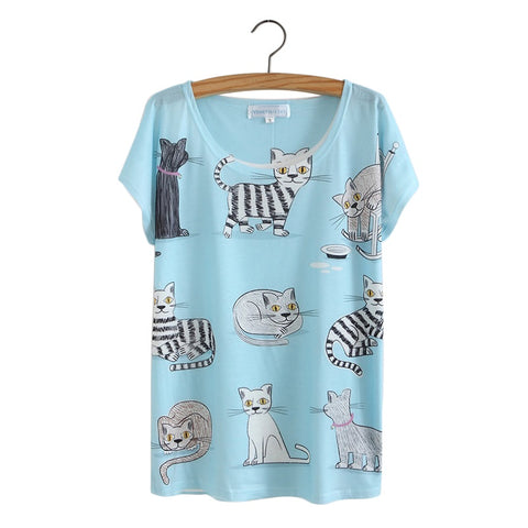 KITTIES BLUE - women's t-shirt