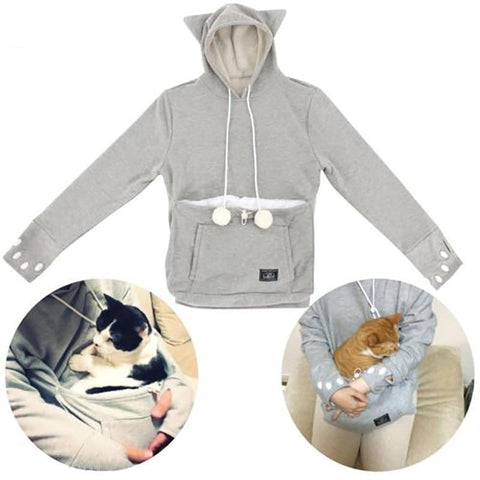 Cat Lovers Hoodie (with Cuddle Pouch)