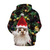 Cat in the Xmas tree - xmas hoodie