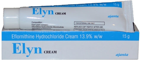 Elyn cream for facial hair removal and
