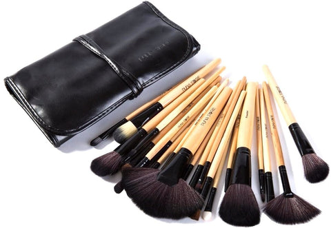 Makeup Brush Set, 24 Pieces with Black PU Leather Case