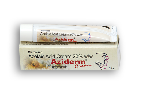 Aziderm Cream 10 % for acne treatment