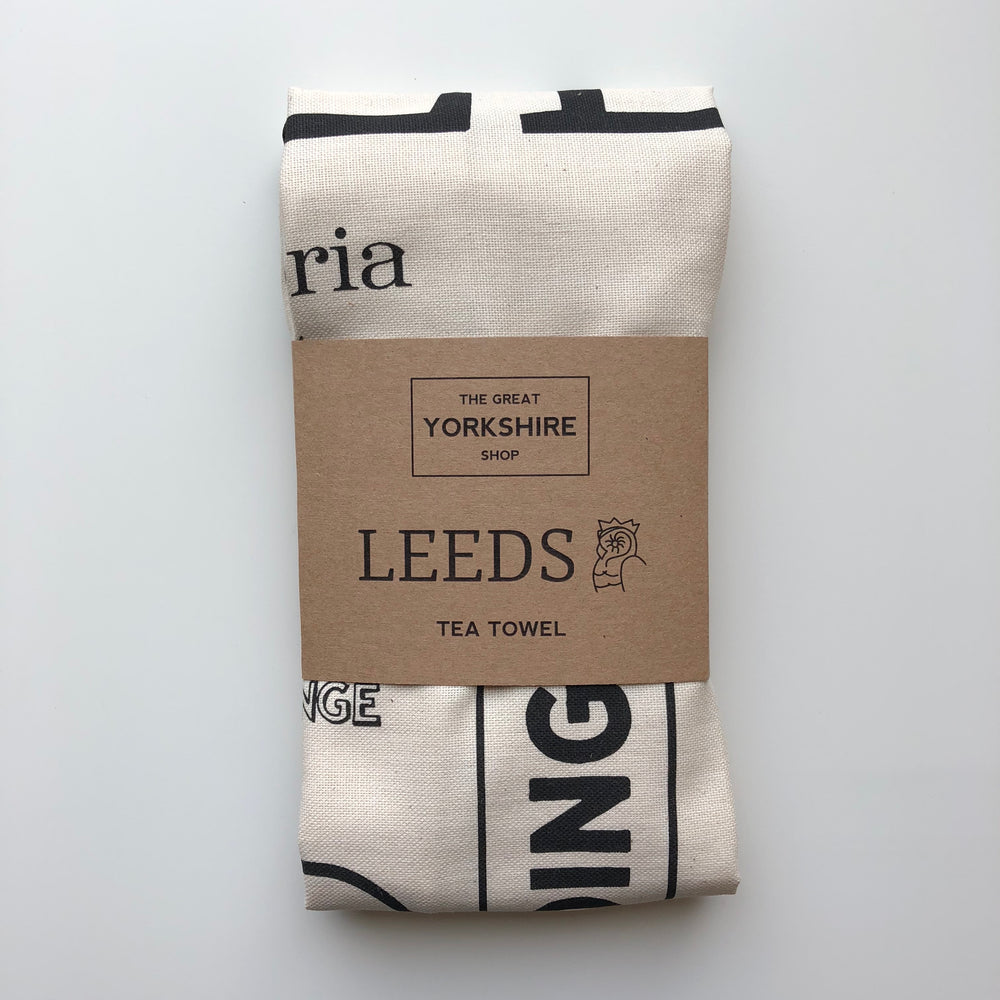 Leeds Tea Towel - The Great Yorkshire Shop