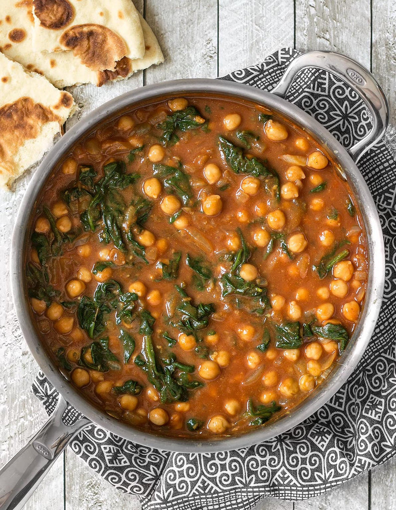 Curried Chickpeas With Spinach | Gluten-Free Recipes