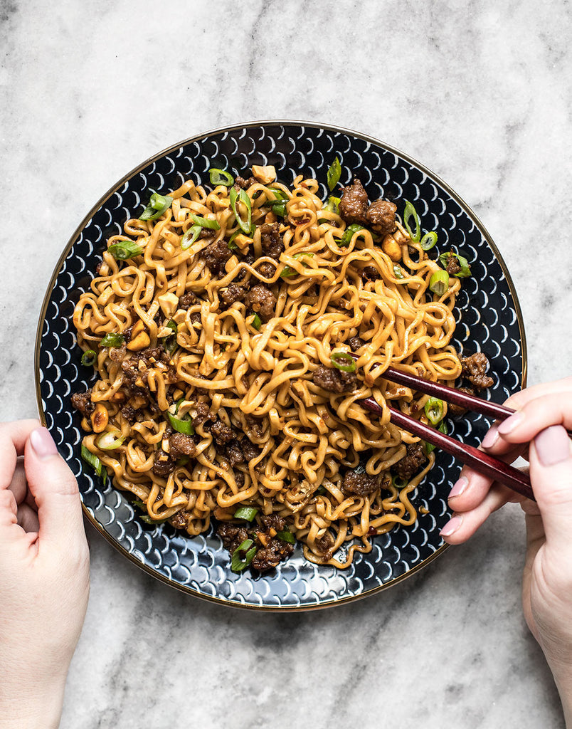 Pork and Peanut Dragon Noodles Recipe | 30 Minutes