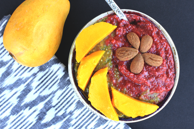 Vegan Strawberry Mango Chia Pudding
